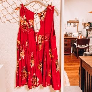 Red Free People Dress Size S